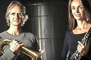 Tara Bouman und Markus Stockhausen in St. Peter