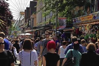 in der Innenstadt von Rheinfelden mit verkaufsoffenem Sonntag