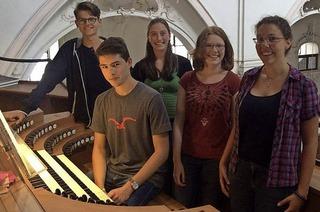 Konzert der C-Schüler des Bezirkskantorats auf der Orgel im Fridolinsmünster Bad Säckingen
