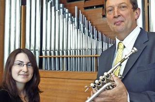 Jean-Jacques Metz (Trompete) und Jeanne Chicaud (Orgel) in Hinterzarten