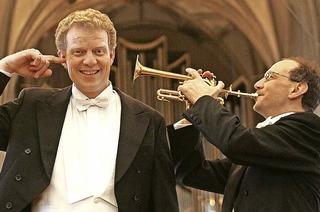 Mit Bernhard Kratzer und Paul Theis (Tromepte / Orgel) in Todtmoos