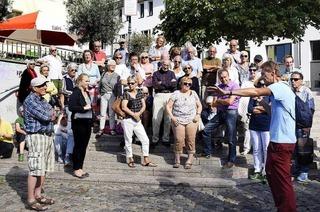 BZ-Leserinnen und -Leser erkunden Geologie in der Oberen Altstadt