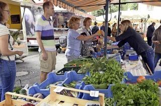 Der Littenweiler Bauernmarkt hat samstags bis zu 20 Stände