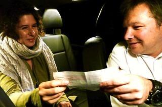 23 Uhr: Taxifahrer Ingo Metzger ist im Hochschwarzwald auf Tour