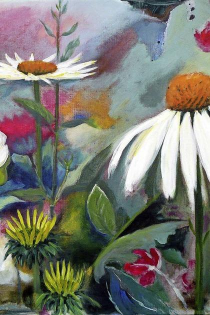Gertraud Bleyh zeigt Blumenportraits in Acryl und Öl - Badische Zeitung TICKET