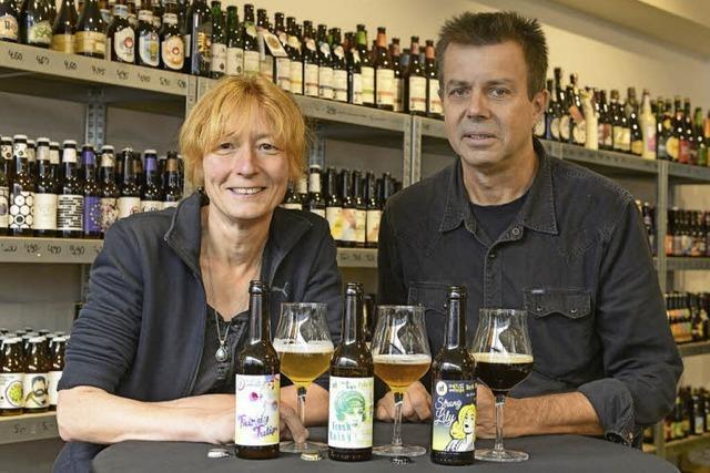 Elke Manz und Thomas Hohner besitzen beide Bierbrauer-Gene