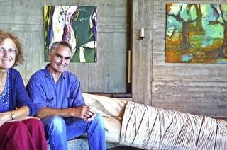 Bilder von Rosemarie Vollmer und Skulpturen von Michael Steigerwald. In Feldberg
