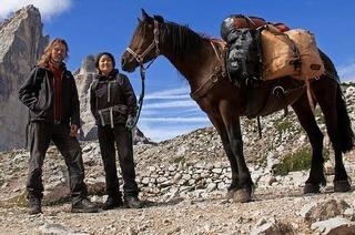 Alpenüberquerung mit Packpferd