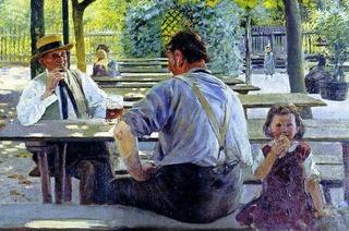 Malerei des großartigen aus Fessenbach stammenden Impressionisten Lothar von Seebach in seinem Heimatort bei Offenburg