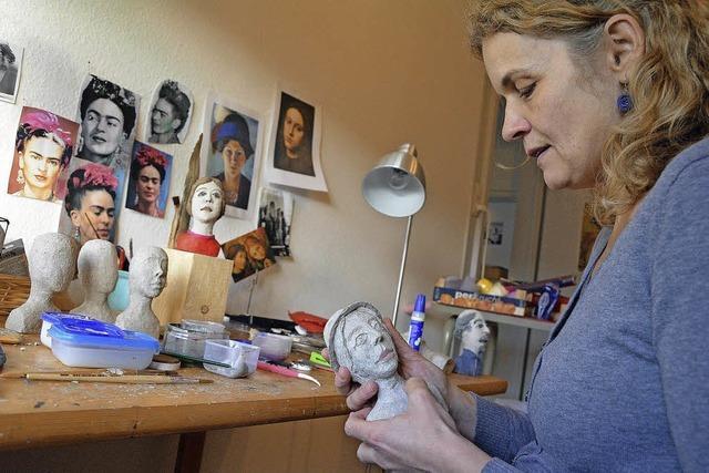 Kopfskulptur - Ausstellungsraum Kathrin Messerschmidt