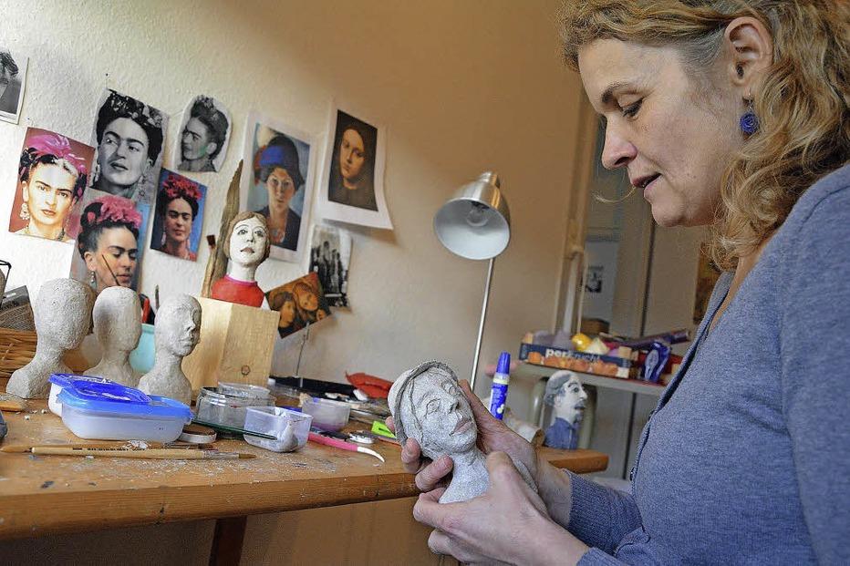 Kopfskulptur - Ausstellungsraum Kathrin Messerschmidt - Lörrach