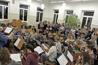 Mandolinenverein und Gäste in Waldkirch-Kollnau