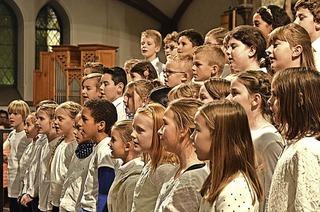 Der Sponti-Chor und drei Schulchören der Rosenburgschule treten in Müllheim auf