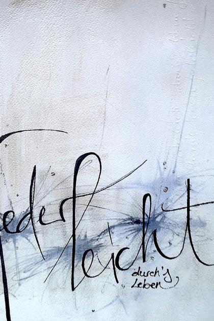 Susanne Böcherer stellt moderne Schriftkunstbilder in Müllheim aus - Badische Zeitung TICKET