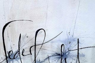Susanne Böcherer stellt moderne Schriftkunstbilder in Müllheim aus