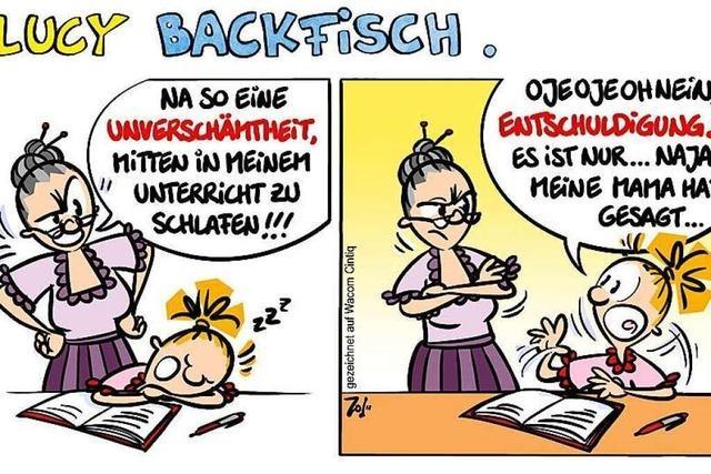 Lucy Backfisch: Schlafen im Unterricht