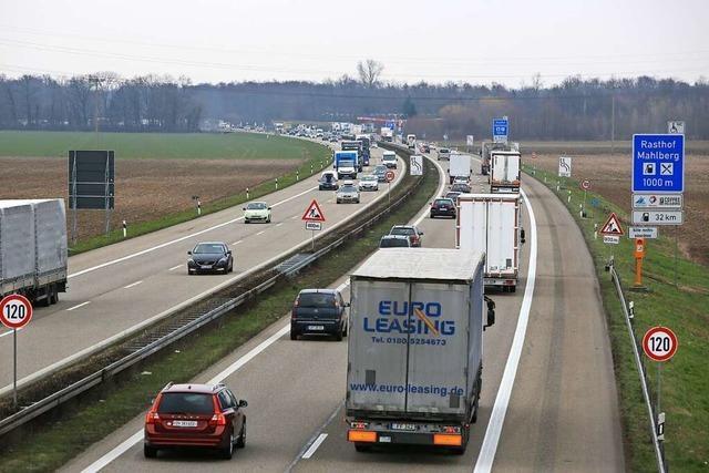 Ab Montag gibt es lange Staus auf der A5 zwischen Ettenheim und Mahlberg
