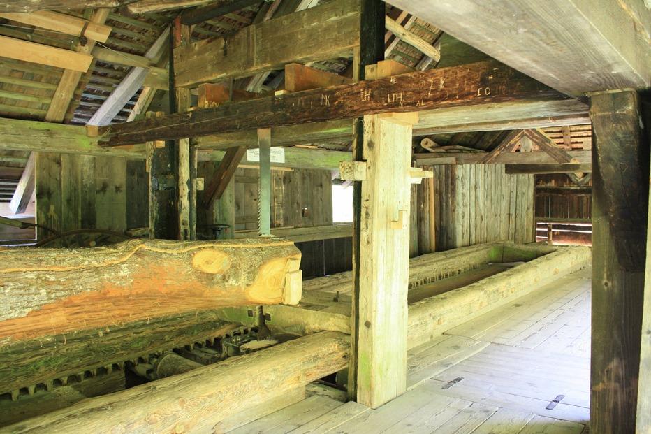 Historische Klopfsäge - Schönau