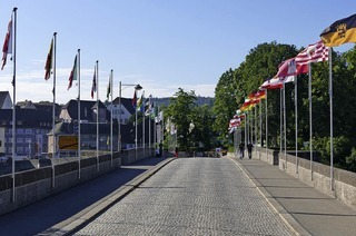 Zehn Jahre Fahrverbot auf der alten Rheinbrücke in Rheinfelden