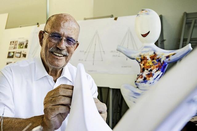 Peter Jordt war viele Jahre für sein Unternehmen kreativ, jetzt gestaltet er Skulpturen