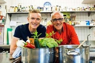 Vater und Sohn Doll treiben Hochleistungssport – auch in der Küche