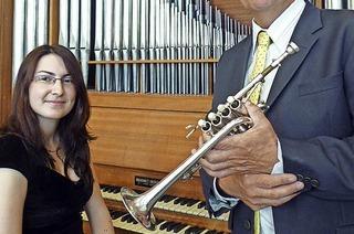 Trompeter Jean-Jacques Metz und Organistin Jeanne Chicaud in Hinterzarten