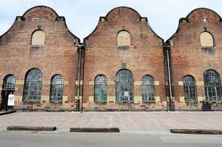 Historische Lokhalle am Güterbahnhof