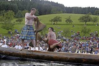 Musikverein Prinzbach feiert mit Wettkämpfen aus den Highlands