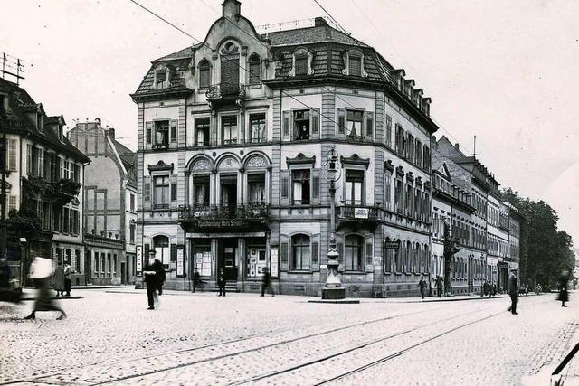 So sah der Friedrichring in Freiburg vor 100 Jahren aus
