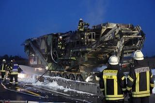 A5 nach Brand eines Schwerlasters seit etwa 20 Uhr wieder frei