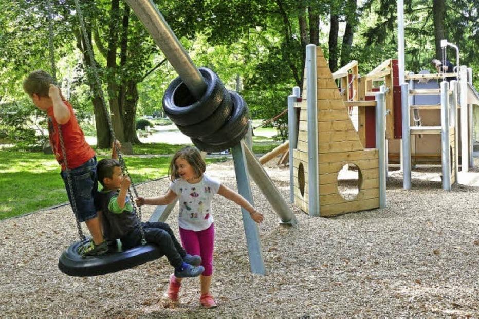 Spielplatz Hoppetosse beim Kurpark - Bad Krozingen