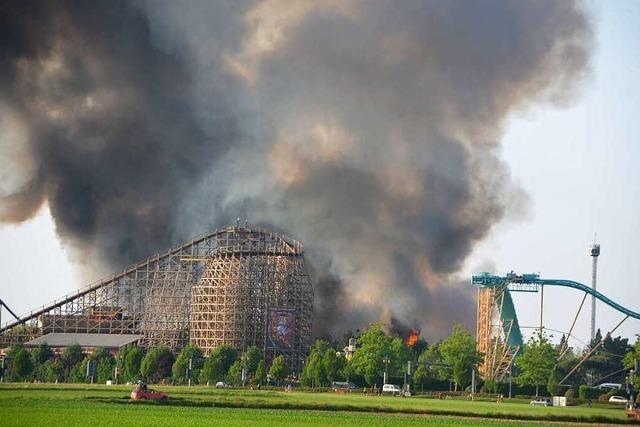 Der Ascheregen beim Brand im Europa-Park war ungefährlich, sagt das Gesundheitsamt