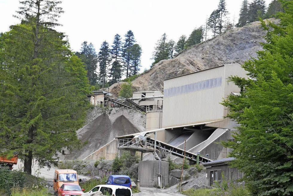 Schotterwerk Steinbruch Bernau Wacht - Bernau