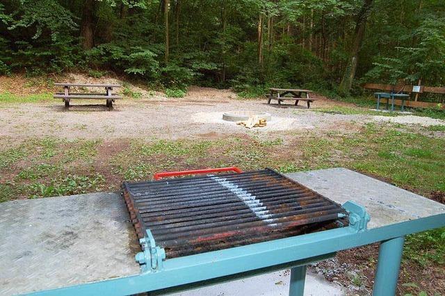 Grillplatz beim Hertener Waldparkplatz
