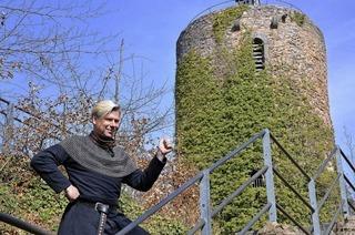 Historische Burgführung mit Wigand Neumann als Markgraf Wilhelm von Hachberg-Sausenberg in Kandern