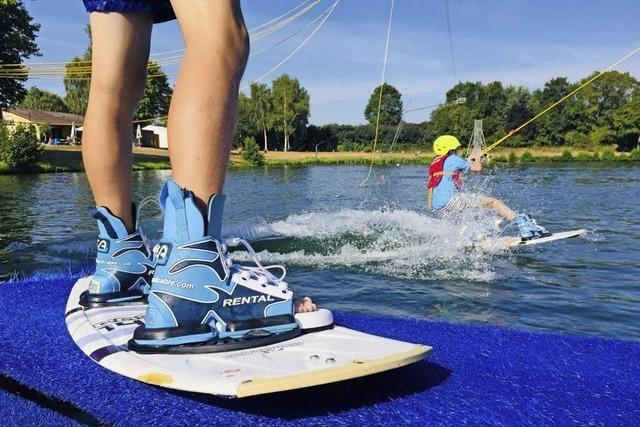 Wakeboarden am Tunisee