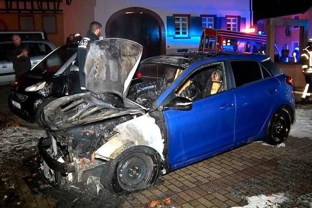 In Mahlberg brennt das nächste Auto