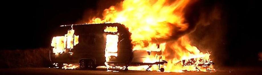 Brennende Autos in der Ortenau