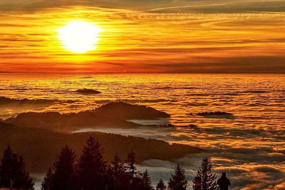 Fotos: So schön war der Sonnenuntergang auf dem Kandel