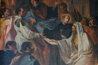 Der heilige Fridolin ließ seinen Freund als Skelett auferstehen