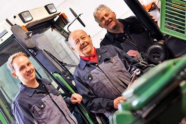 Bei Familie Sacherer gibt es drei Generationen Landmaschinenmechaniker-Meister