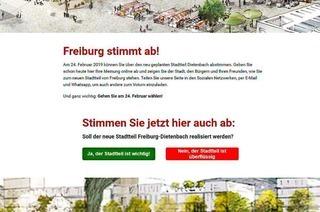 Eine Dietenbach-Website als Lockmittel für Facebook-Nutzer