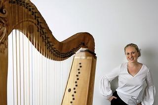 Klangraritäten in Merzhausen mit Hélène Nassif auf der Barockharfe und David Franke an der Orgel