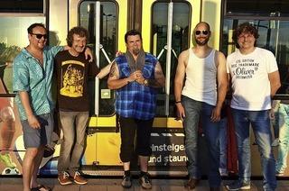 Bluesmusik auf dem Berg: Manuel Torres und Jakewalk spielen auf der Erlenbacher Hütte