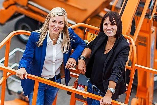 Sabrina und Vanessa Binz führen in Denzlingen einen der größten Gerüstbauer Deutschlands