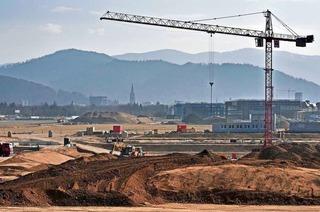Die Fundamente für das neue SC-Stadion werden gesetzt