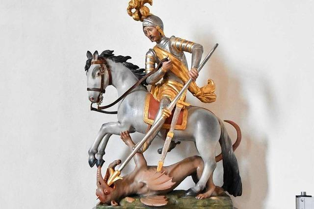 Der heilige Georg gilt als Drachentöter und Patron der Soldaten
