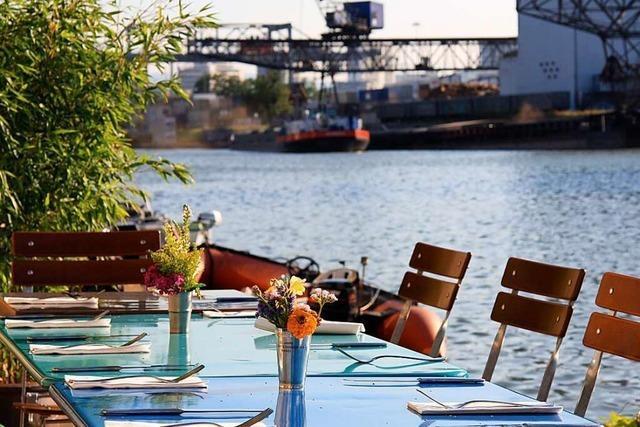 Wo man in Basel bei Hafenatmosphäre ausgehen kann