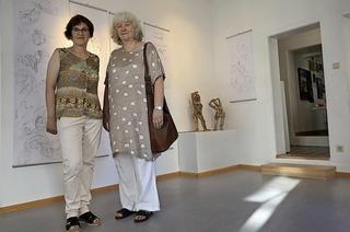 Birgit Weber und Jutta Peikert zeigen trostreiche Abbilder menschlicher Unzulänglichkeit bei L'art pour Lahr