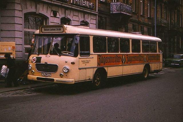 Als durch die Wannerstraße im Stühlinger noch ein Bus fuhr